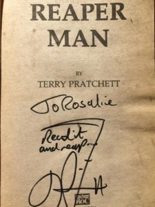 a book signed by terry pratchett