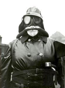 A firewoman in full gear